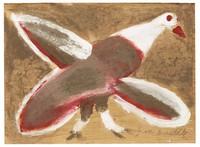 Untitled (Eagle), Jimmy Lee Sudduth, paint and mud on wood board