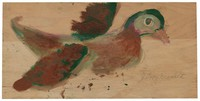 Untitled (Duck), Jimmy Lee Sudduth, paint and mud on wood board