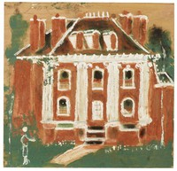 Grimsley House, Fayette, Jimmy Lee Sudduth, paint and mud on wood board