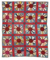 Sunburst/Wheel quilt, by MEJ?