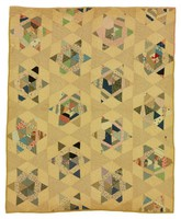Six-Pointed Pieced Star/Double Star quilt