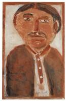 Prince Albert, Jimmy Lee Sudduth, paint and mud on wood board