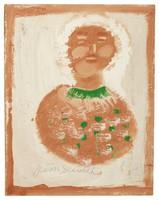 Grandma Moses, Jimmy Lee Sudduth, paint and mud on wood board