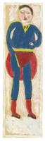 Superman, Jimmy Lee Sudduth, paint and mud on wood board
