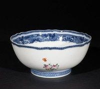 Armorial punch bowl