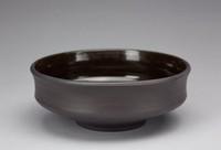 Bowl, David Puxley, Wedgwood, black basalt with glazed interior