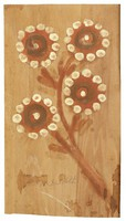 Untitled (Flowers), Jimmy Lee Sudduth, paint and mud on wood board