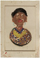 Untitled (Standing Brown Woman), Jimmy Lee Sudduth, paint and mud on wood board