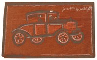 Untitled (Model T), Jimmy Lee Sudduth, paint and mud on wood board