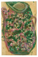 Untitled (Speckled Pitcher), Jimmy Lee Sudduth, paint and mud on wood board