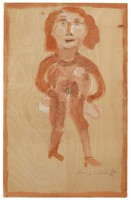 Untitled (Erotic/Nude Woman), Jimmy Lee Sudduth, paint and mud on wood board