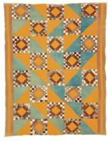 Diamond-Set Square quilt