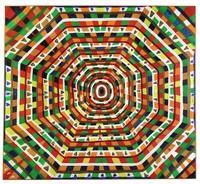 Untitled (Geometric), Reverend Benjamin Franklin Perkins, acrylic on canvas