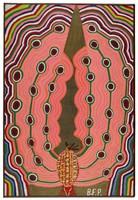 Untitled (Transitional King Tut Treasure/Cherokee Love Bird), Reverend Benjamin Franklin Perkins, acrylic on canvas