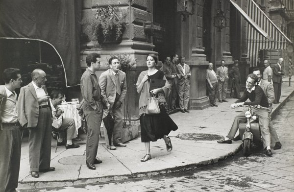American Girl in Italy, Florence, Ruth Orkin, gelatin silver print