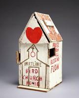 Bird House (Pastor's Love Offering), Reverend Benjamin Franklin Perkins, acrylic on wood