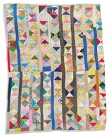Triangles and bars quilt.