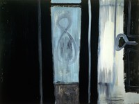 Room 8, Hotel Flora, Cannes, Robert Motherwell, oil on Masonite mounted on stretched canvas