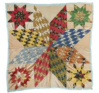 """Quilt, """"Lone Star"""" pattern, Nora Ezell, textiles"""