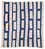 Red, white, and blue ladders quilt.