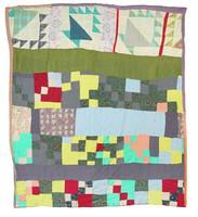 Random blocks and flower baskets quilt.