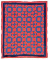 """Quilt, """"Broken Wedding Ring"""" pattern, RSVP Club, textiles"""