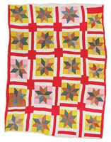 Eight-pointed stars quilt