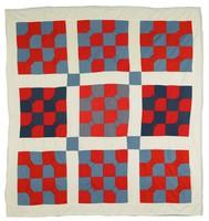 Bow tie quilt, knit fabrics.