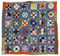 Mixed patterns quilt.