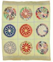 Sunburst in Circles quilt