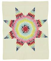 Lone Star quilt, white ground