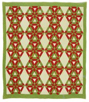 Smoothing Iron/Star and Hexagon quilt