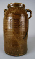 Two-gallon jar, with ear-handle on one shoulder and strap-handle on opposite