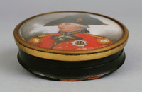 Polychrome miniature of British Admiral, possibly the Duke of Clarence
