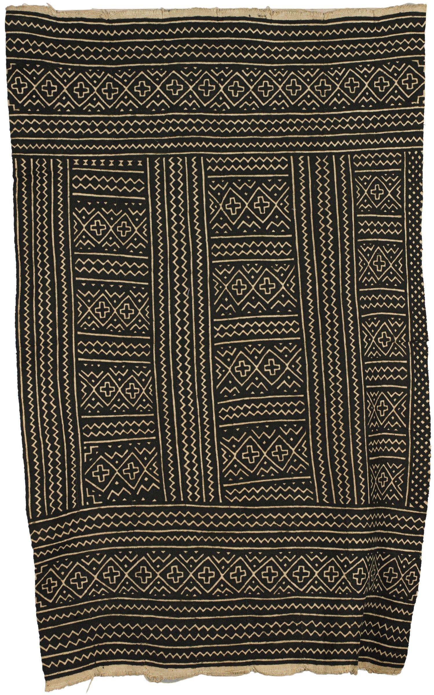 Skirt, Djowari Suko, Bamana people, Mali, African, cotton, mud, natural dye
