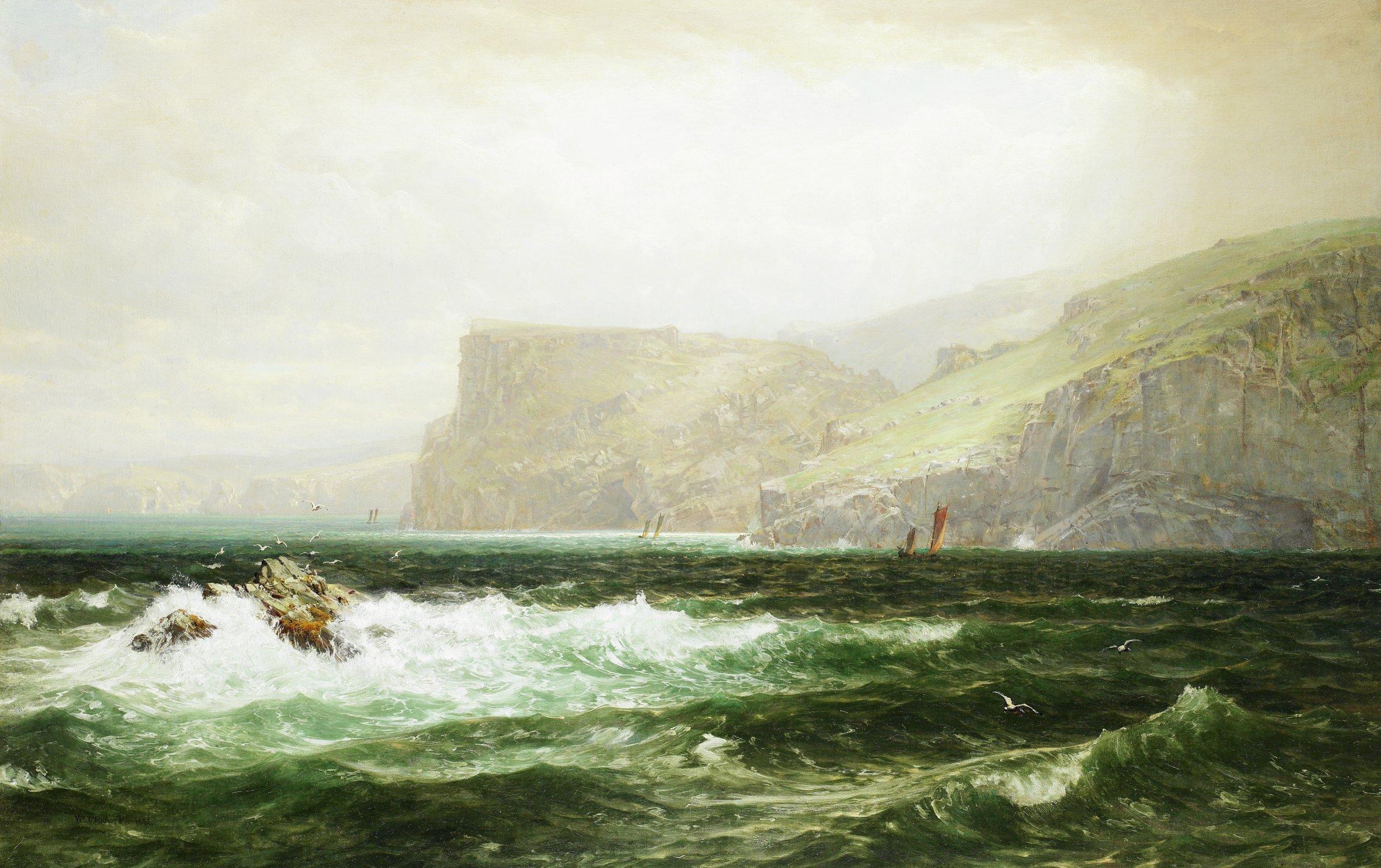 Tintagel Coast, William Trost Richards, oil on canvas