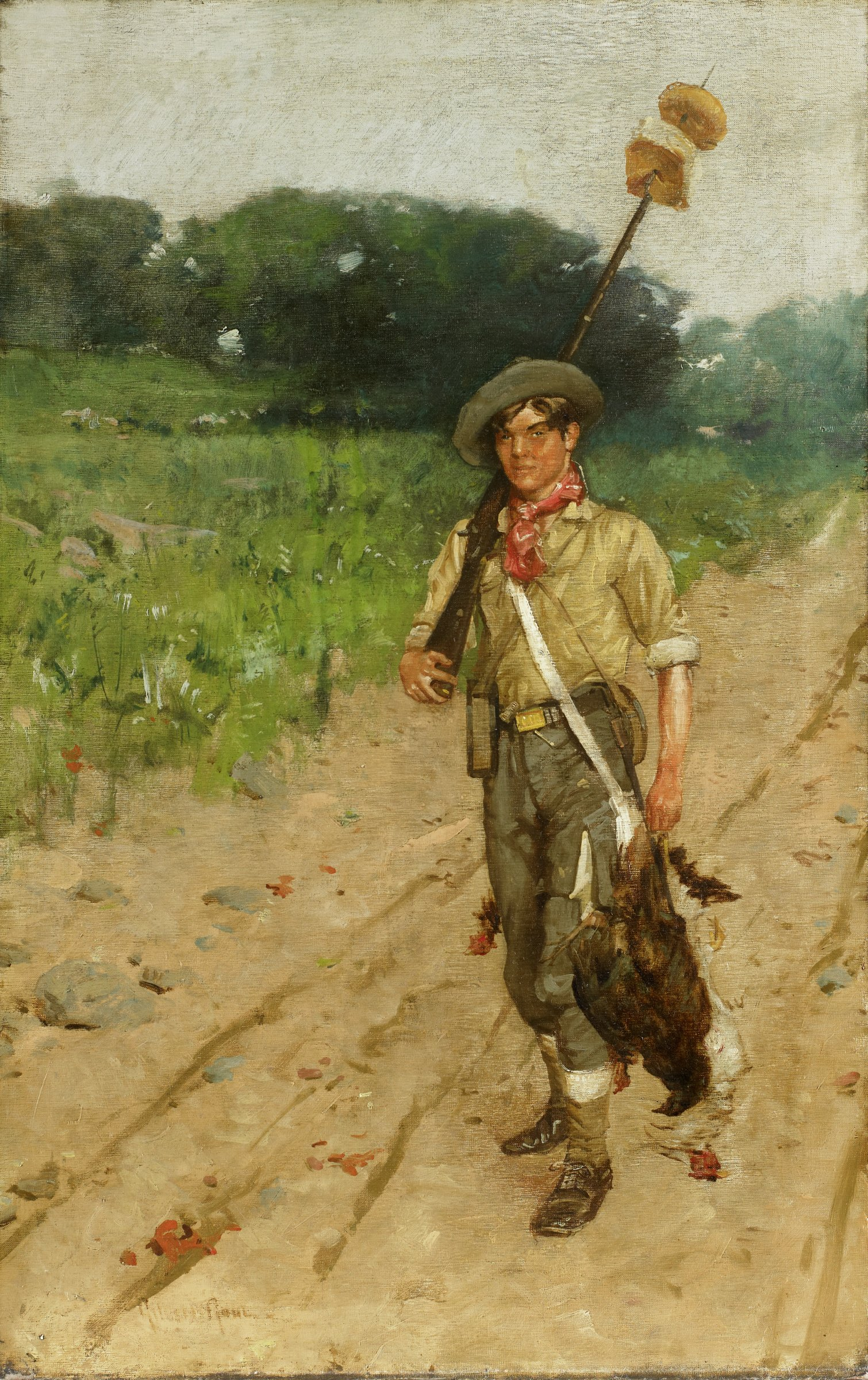 The Forager, William Gilbert Gaul, oil on canvas