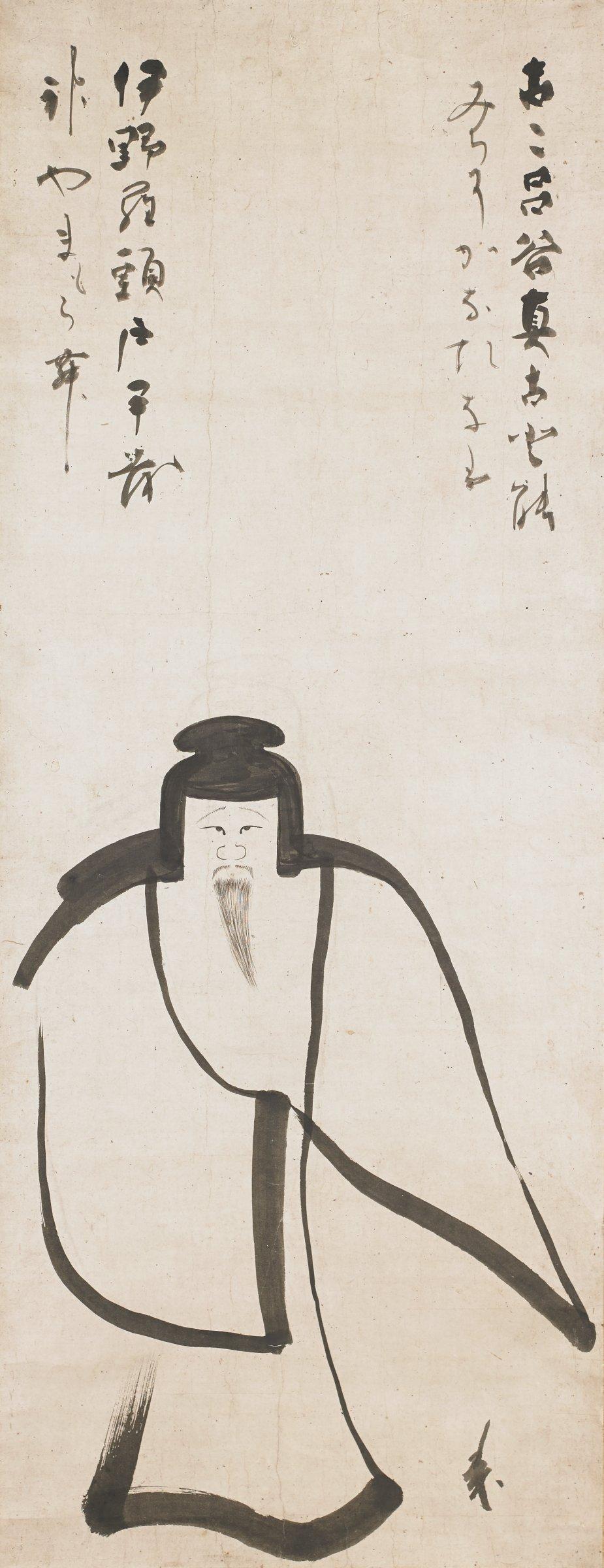 Tenjin, Konoe Nobutada, ink and color on paper