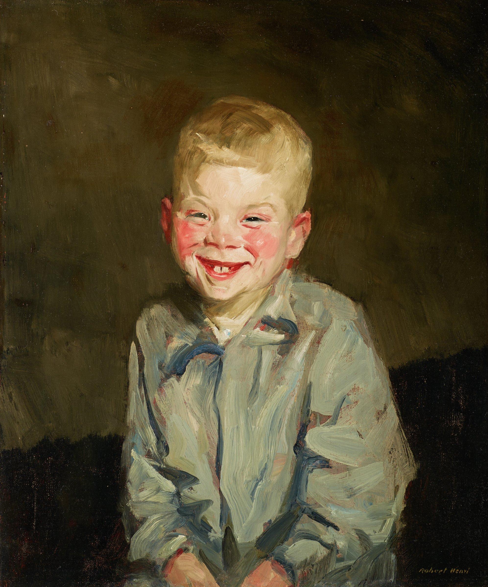 The Laughing Boy (Jopie van Slouten), Robert Henri, oil on canvas
