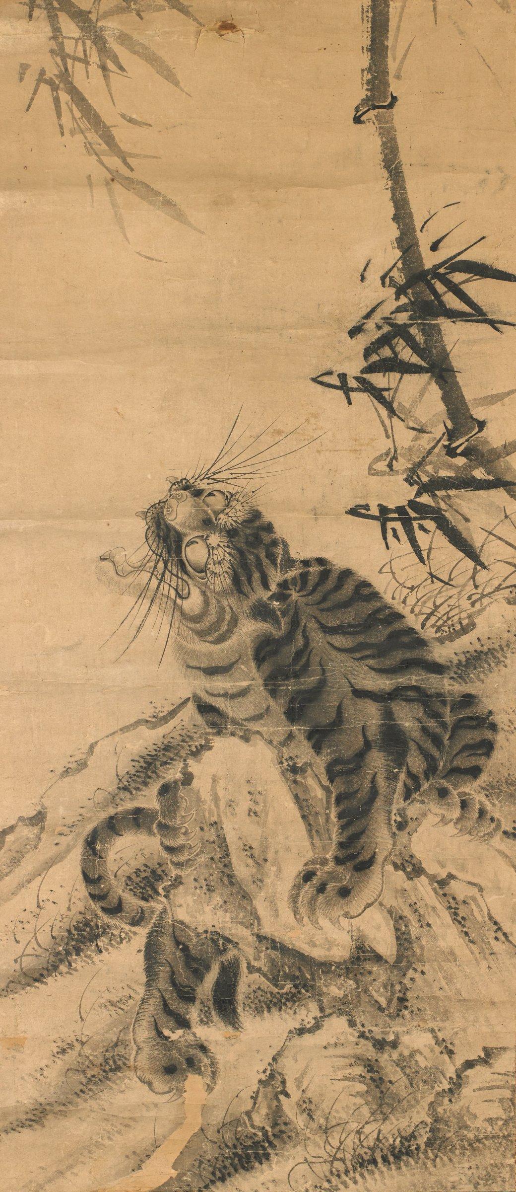 Tiger, Japan, Copy after Sesson (later copy), ink on paper