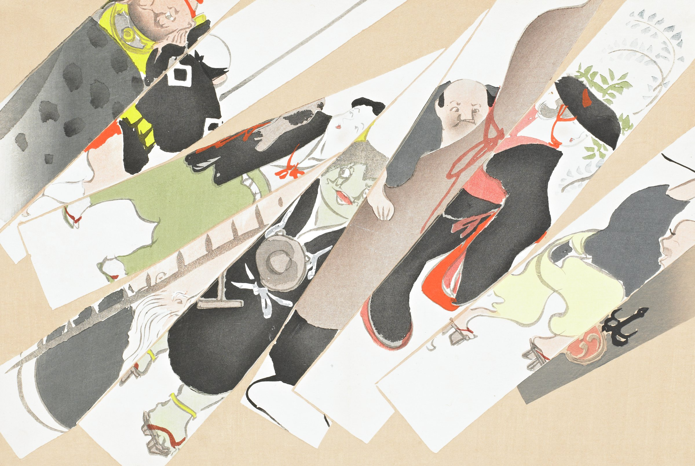 "Otsu-e (""Otsu-e"" Themes), from Momoyogusa (A World of Things), Volume 2, Kamisaka Sekka, ink and color on paper"