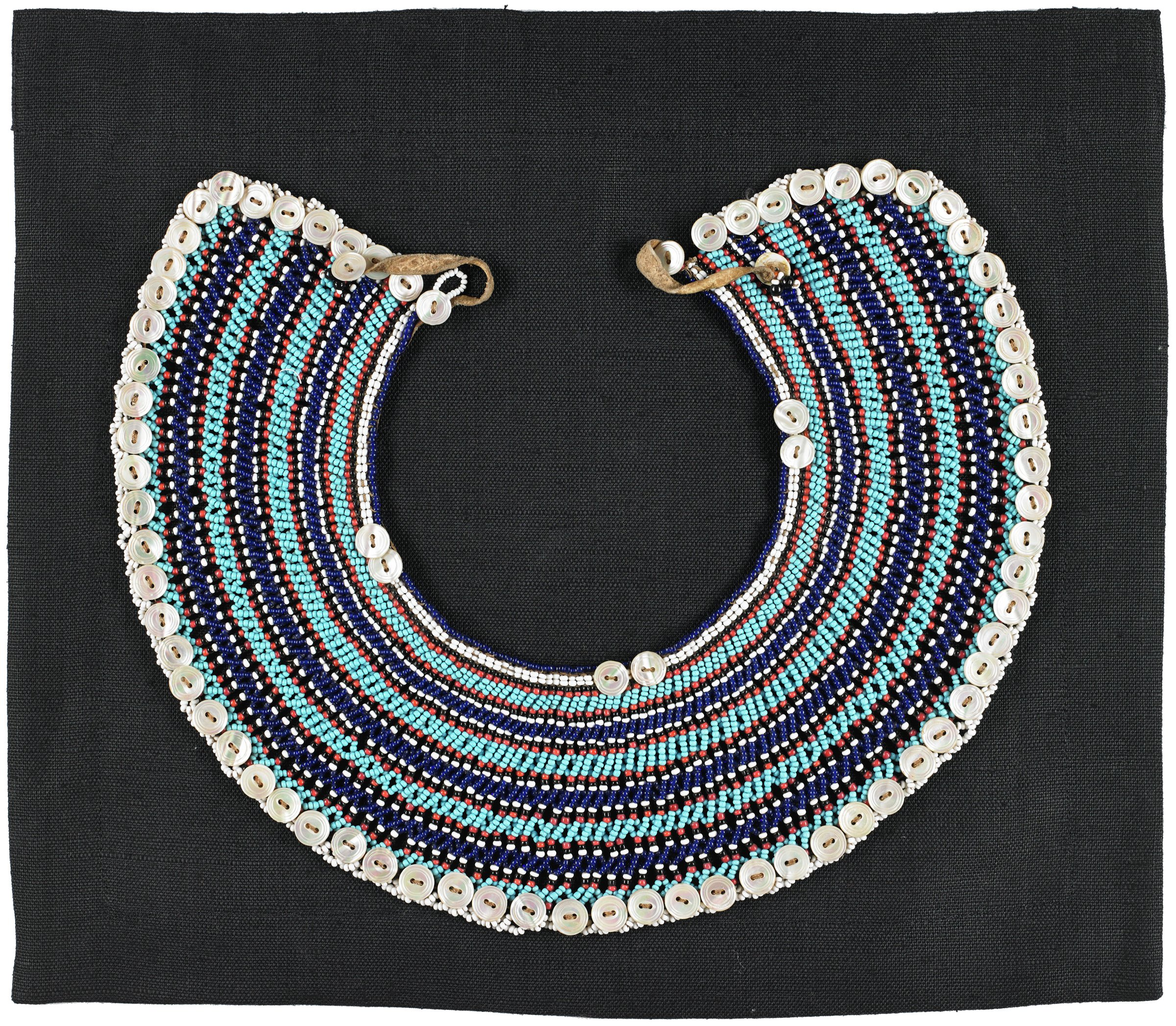 Collar or Necklace, Fingo people, Eastern Cape, South Africa, South Africa, African, glass beads, buttons, thread