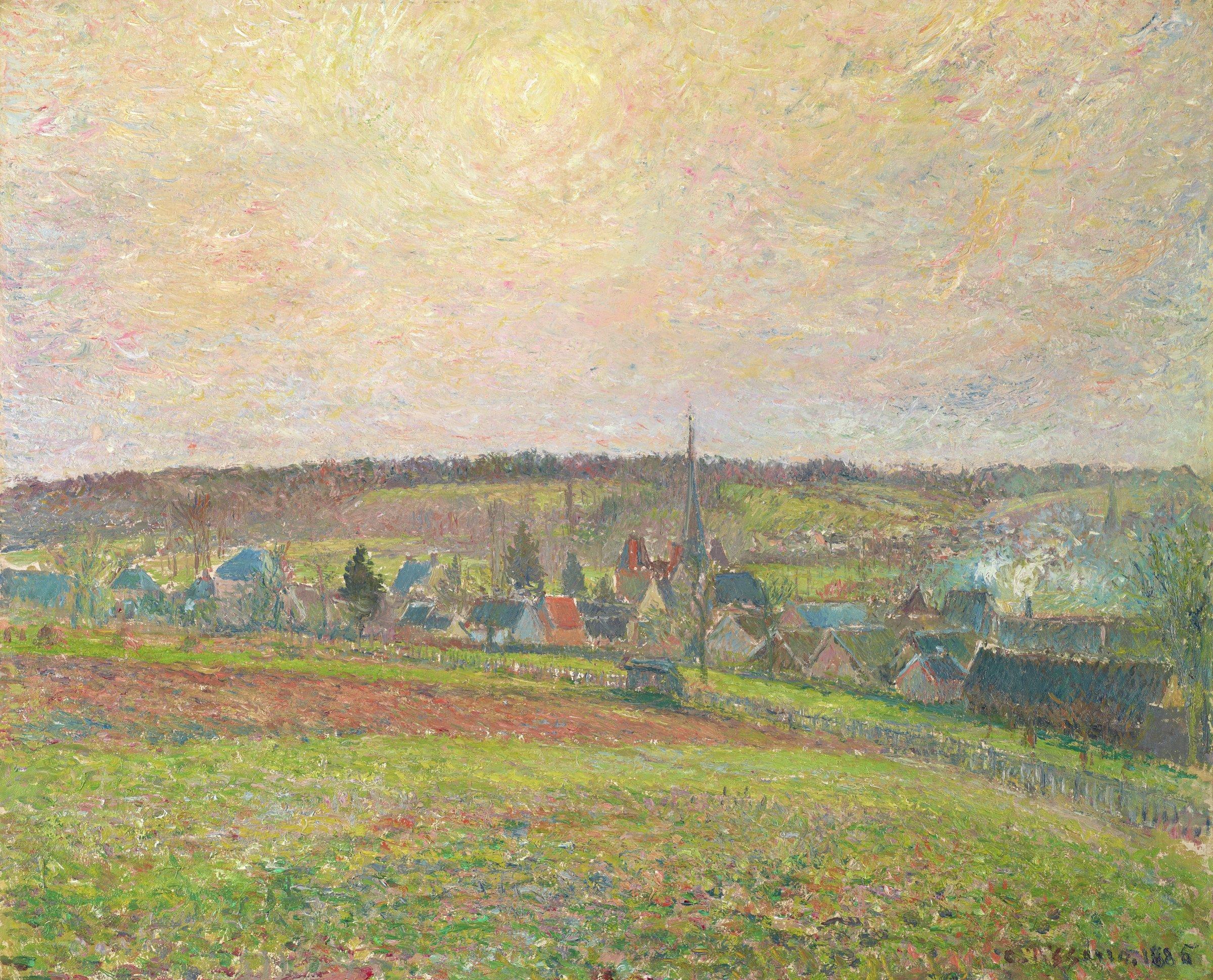 Le Village d'Éragny (The Village of Éragny), Camille Pissarro, oil on canvas