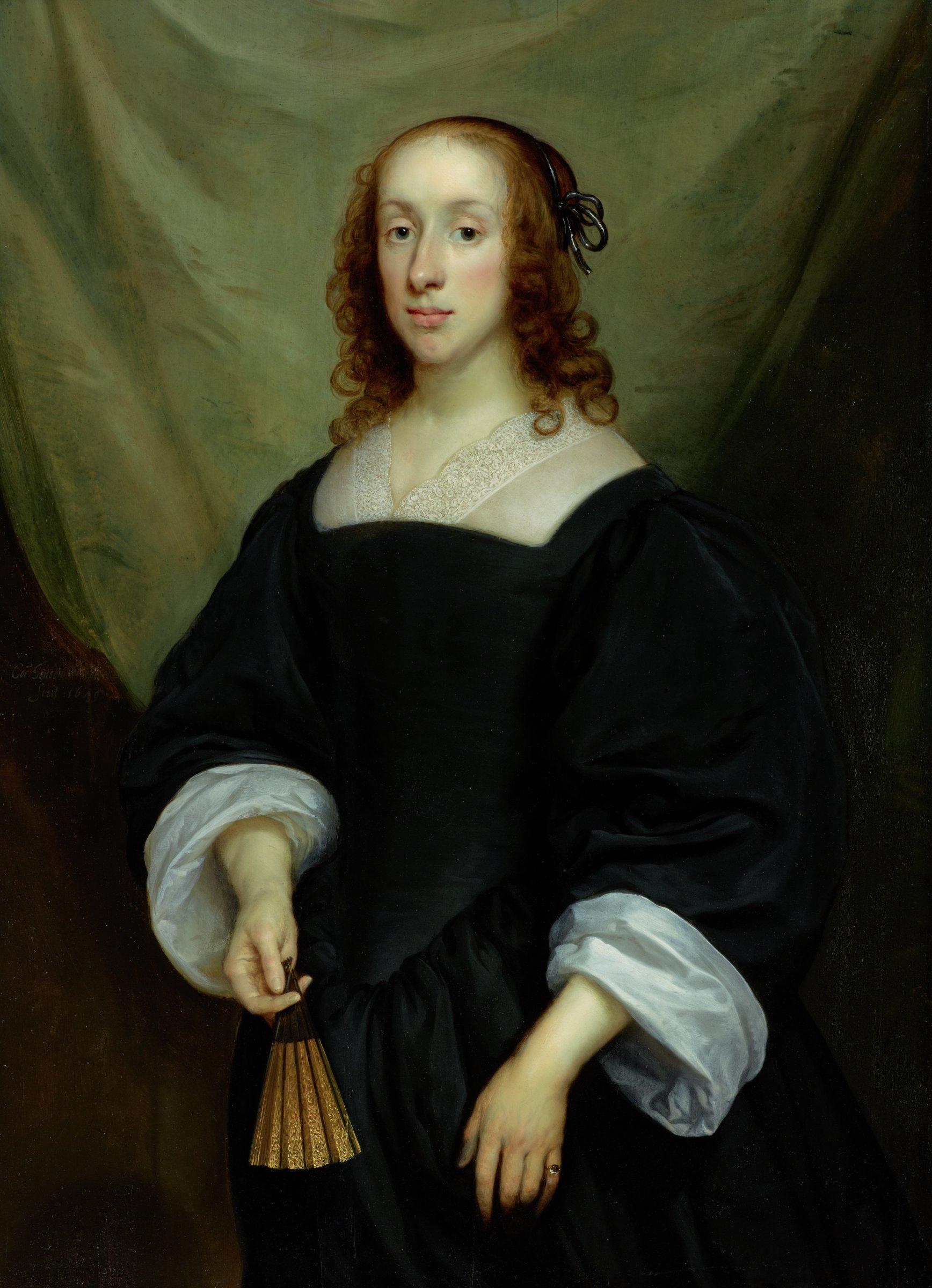 Portrait of a Lady, Cornelis Jonson van Ceulen I, oil on panel