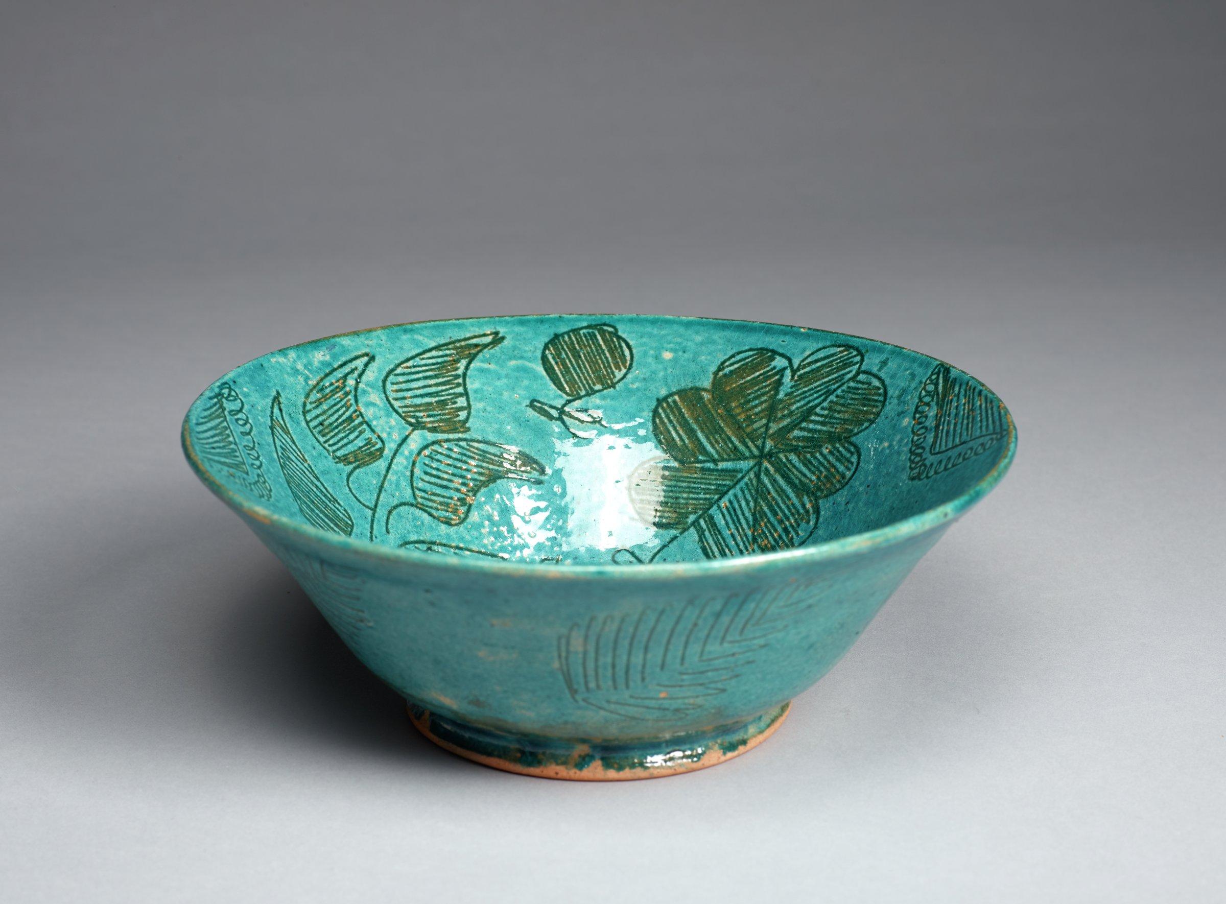 Bowl, Afghanistan, glazed low-fire ceramic
