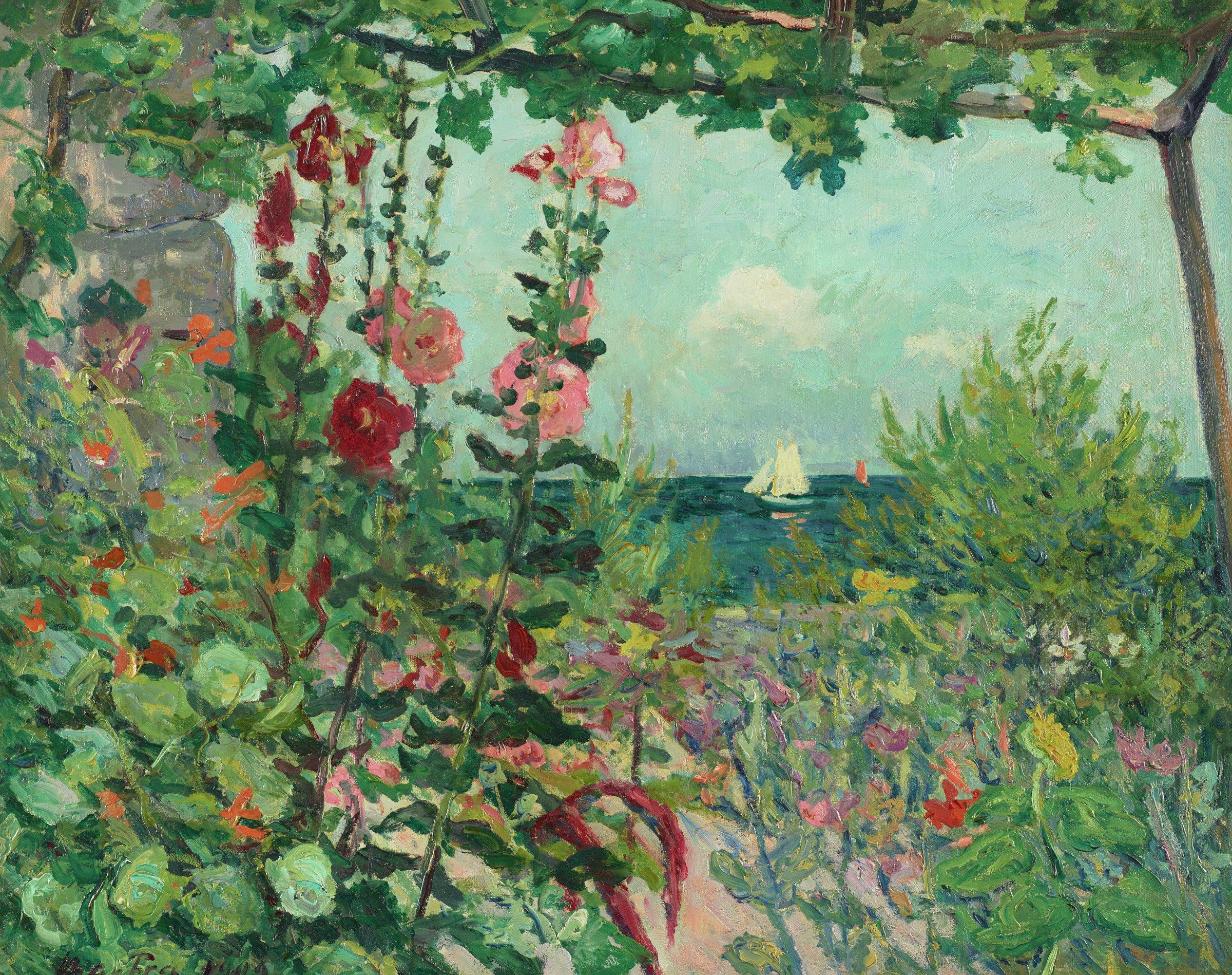 Fleurs au Bord Belle-île-en-Mer (Flowers near Belle-île-en-Mer), Maxime Maufra, oil on canvas