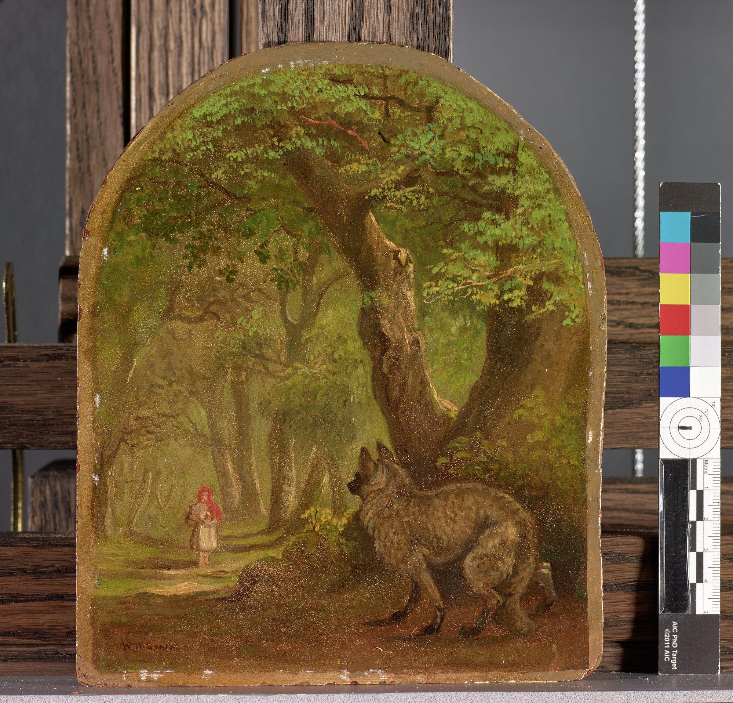 Little Red Riding Hood, William Holbrook Beard, oil on panel