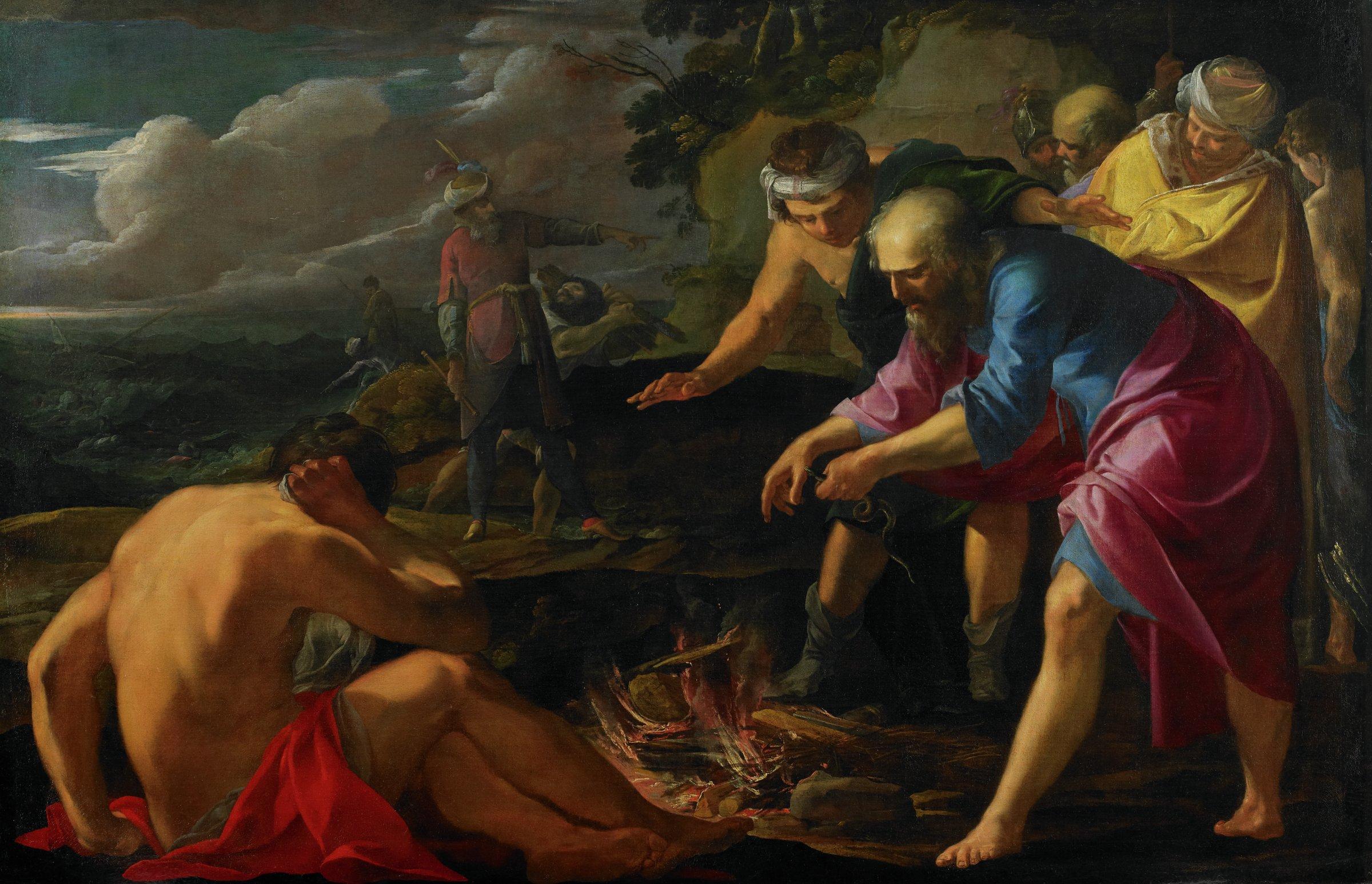 Saint Paul Shipwrecked on Malta, Laurent de La Hyre, oil on canvas