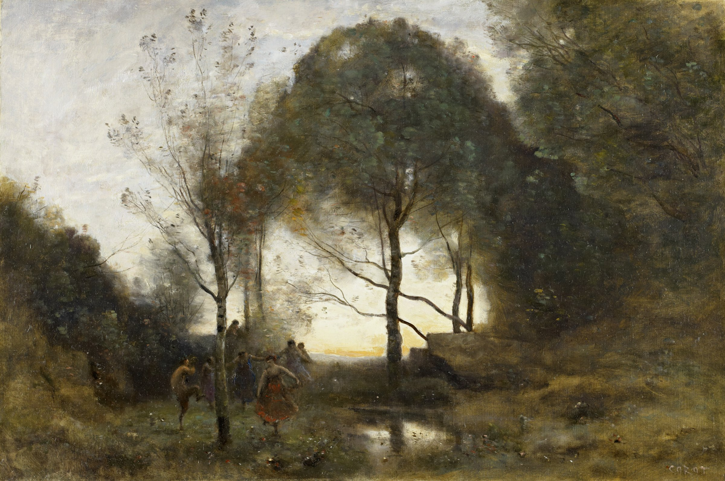 Nymphes et Faunes (Nymphs and Fauns), Jean-Baptiste-Camille Corot, oil on canvas