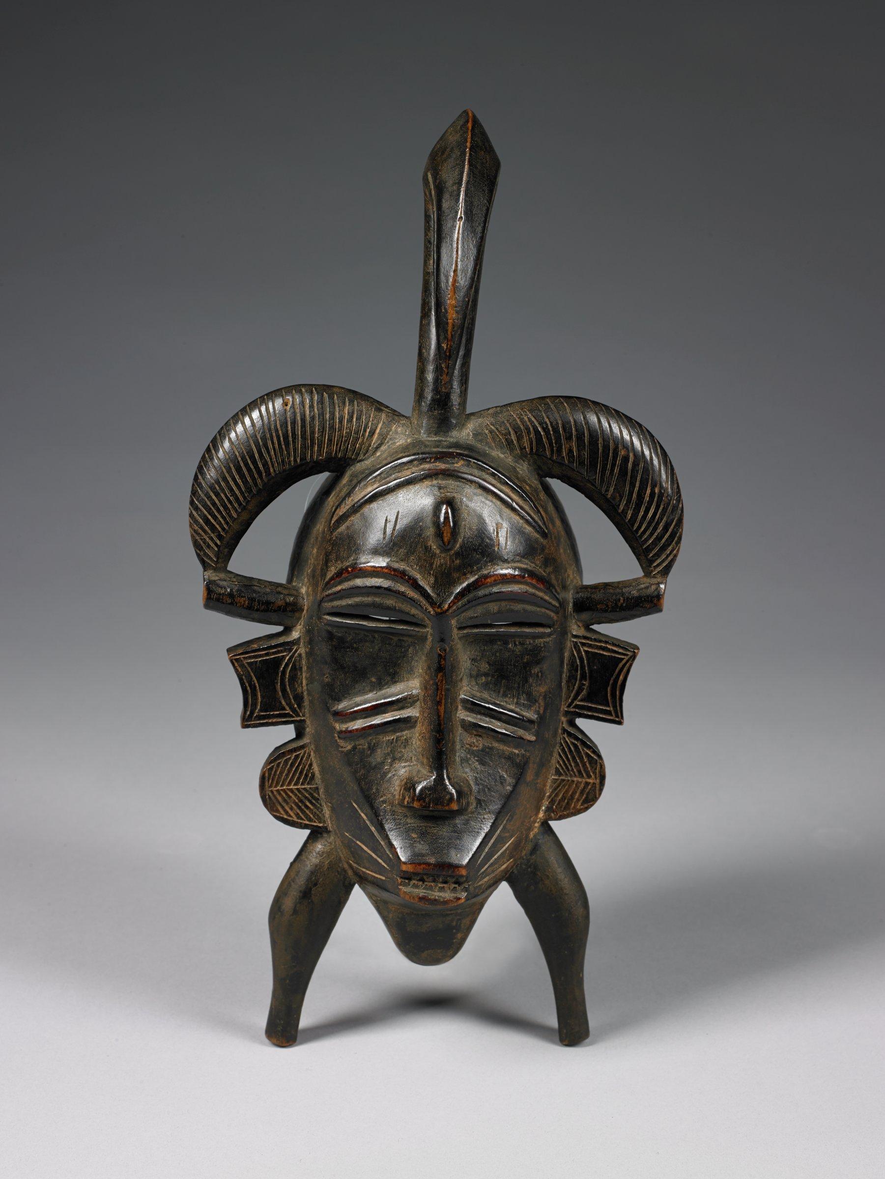 Mask (kpeliye e), Senufo people, Côte d'Ivoire, African, wood